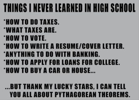 Things I never learned in school funny