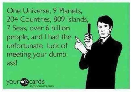 one universe, nine planets ecard
