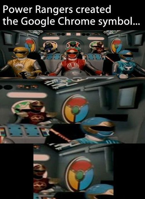 power rangers created the google chrome symbol