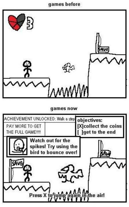 games before  and games now funny