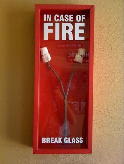 in case of fire funny