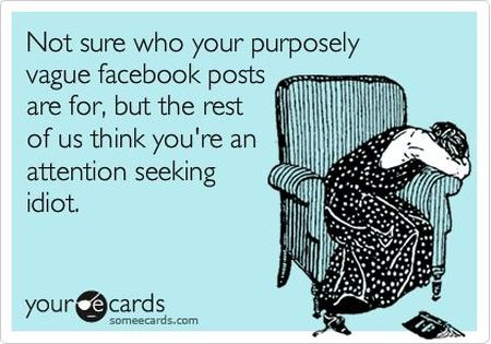 not sure who your post are aiming on facebook ecard