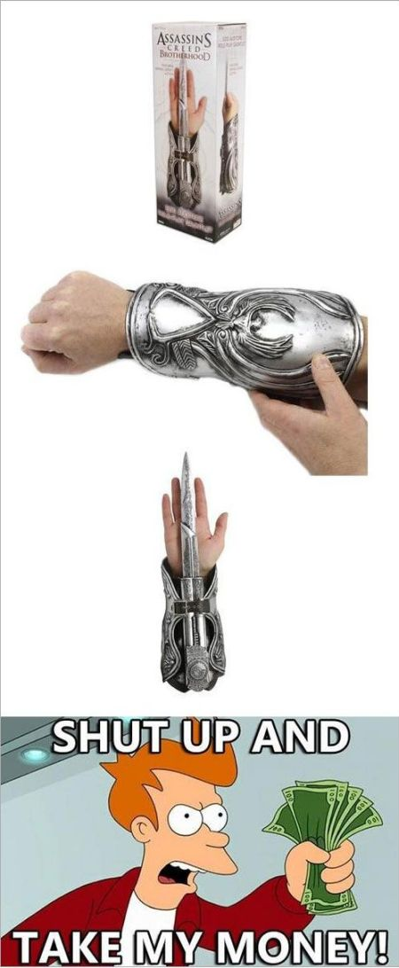 assasins creed funny accessory take my money