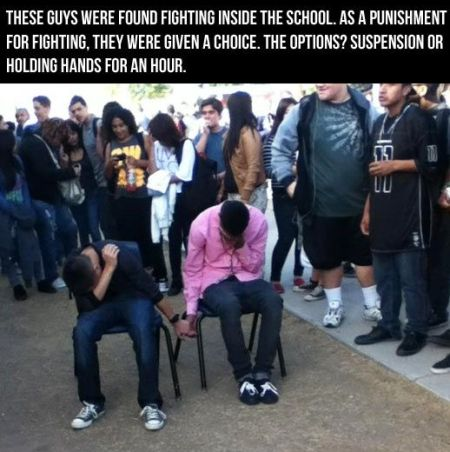 these guys were found fighting inside the school funny