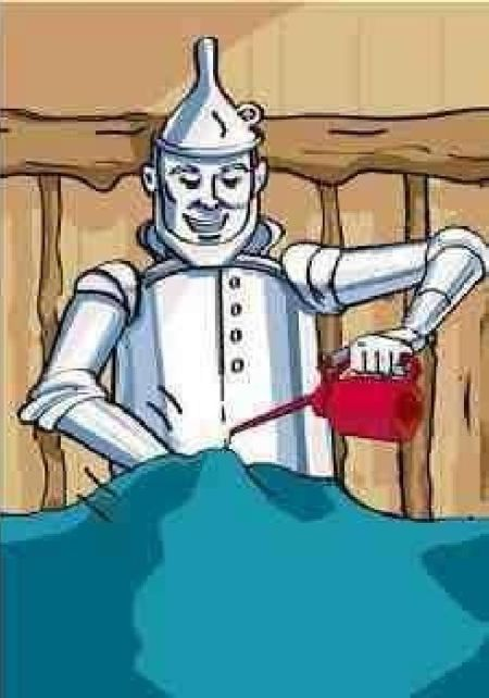 tin man oiling his parts