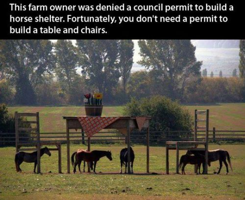 you don't need a permit to build a table and chairs