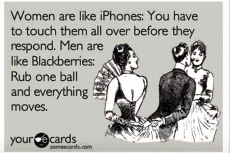 women are like iPhones ecard