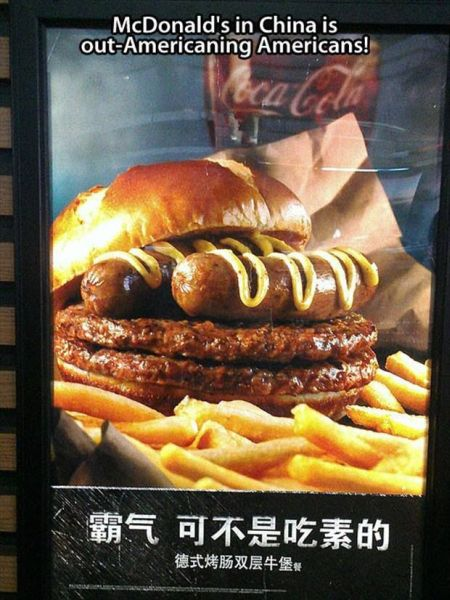 Mc Donalds in China is out-americaning Americans