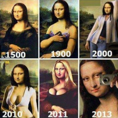 Mona Lisa through the ages funny