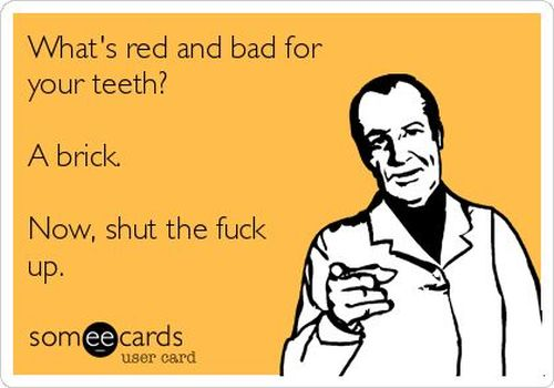 what's red and bad for your teeth