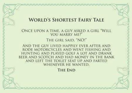 worlds shortest fairy tale funny