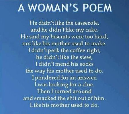 a woman's poem funny