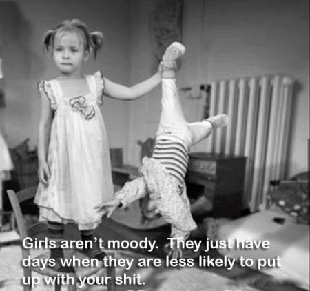 girls aren't moody