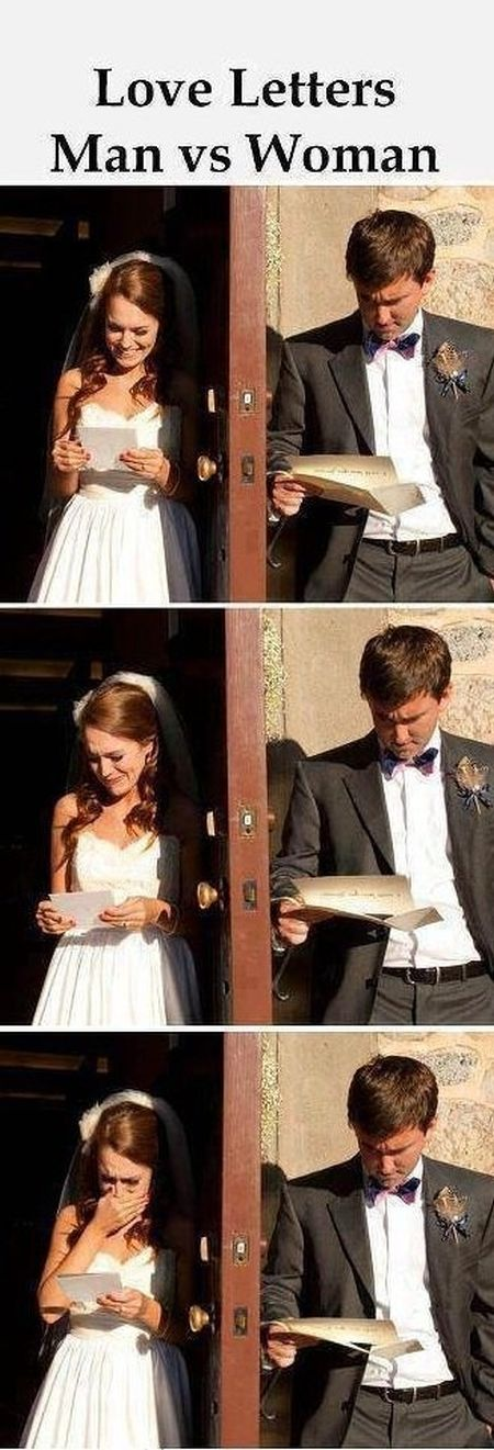 love letters man versus woman