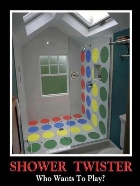 shower twister demotivational