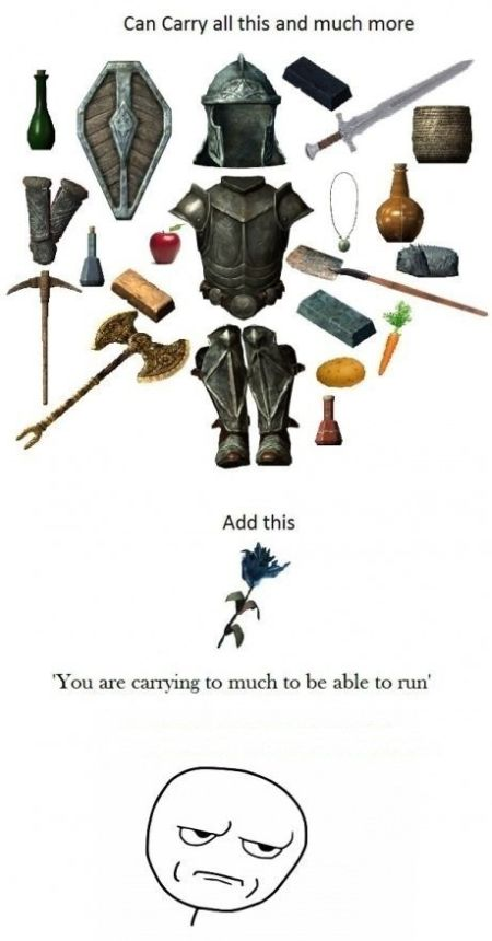 carrying too much to run video game funny