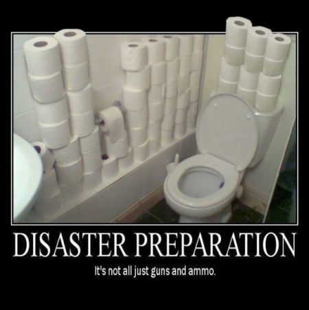 disaster preparation demotivational