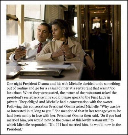 president Obama and michelle funny story