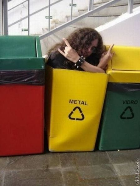 metal recycling funny picture