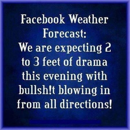 Facebook weather forecast