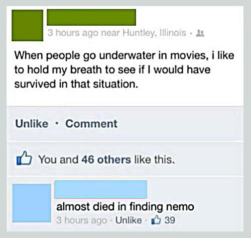when people go underwater in movies