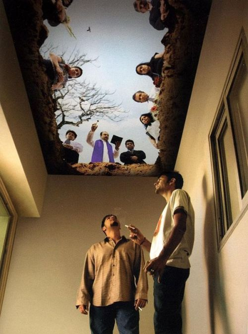 smokers room ceiling painting