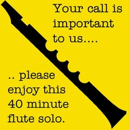 Your call is important to us please enjoy this 40 minutes flute solo