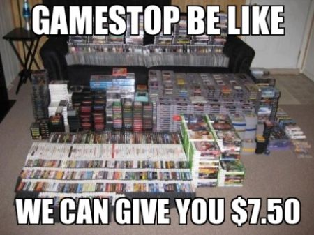 Gamestop be like we can give you $7.50 funny