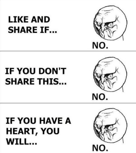 No share facebook funny meme