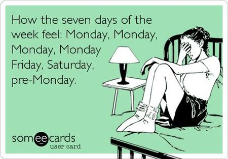 the seven days of the week feel ecard