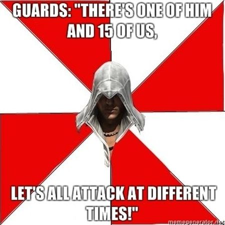 assasins creed let's attack at different times funny