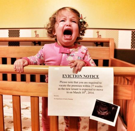 eviction notice funny pregnancy announcement