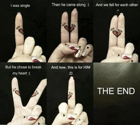 short love story on fingers