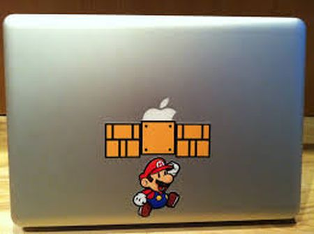Mario bros apple laptop