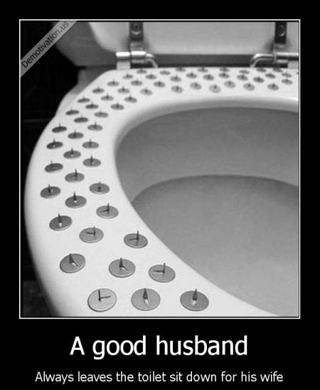 a good husband demotivational
