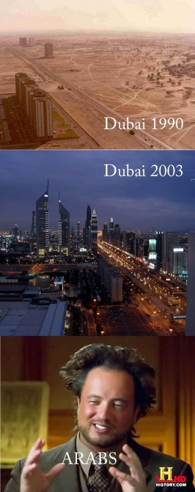 Dubai in 1990 and dubai in 2003