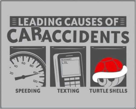 leading causes of caraccidents mario bros