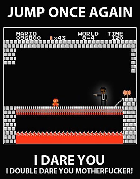 jump once again I dare you mario bros
