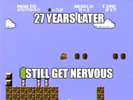 27 years later still gets nervous Mario Bros