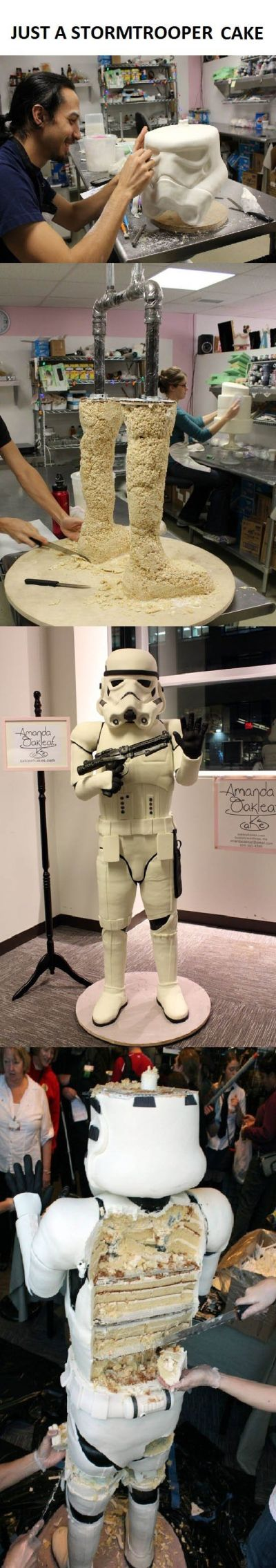 Just a stormtrooper cake