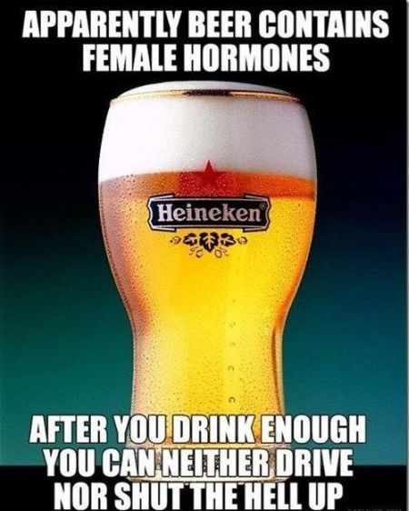 Beer contains female hormones funny