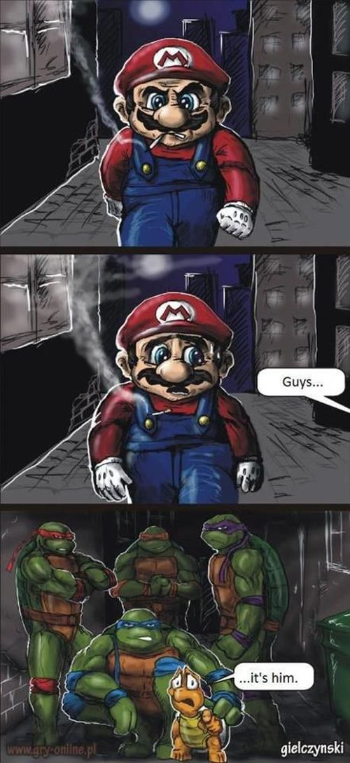 Mario bros and the Teenage Mutant Ninja Turtles
