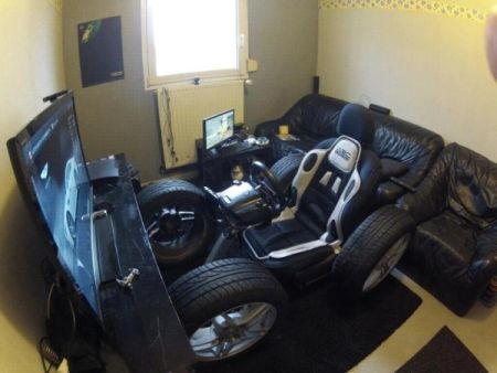 Video game crazy driving seat