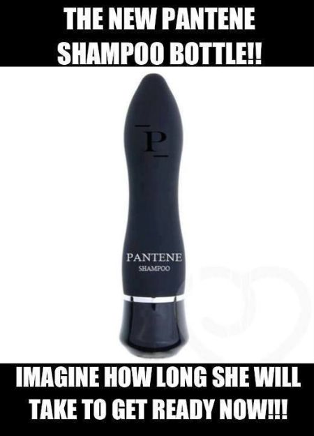 the new pantene shampoo bottle funny