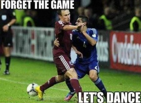 Forget the game let's dance football funny