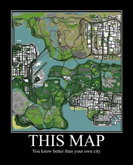 GTA demotivational this map