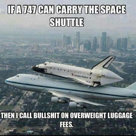if a 747 can carry the space shuttle funny
