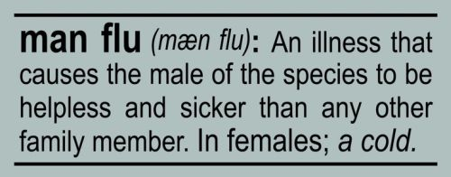 man flu definition funny