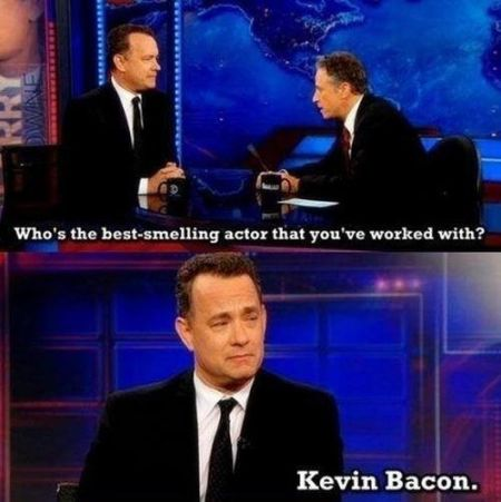 Tom hanks the best smelling actor you worked with