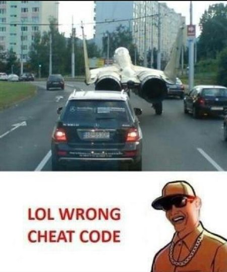 GTA wrong cheat code lol